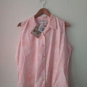 Columbia beach batik print shirt